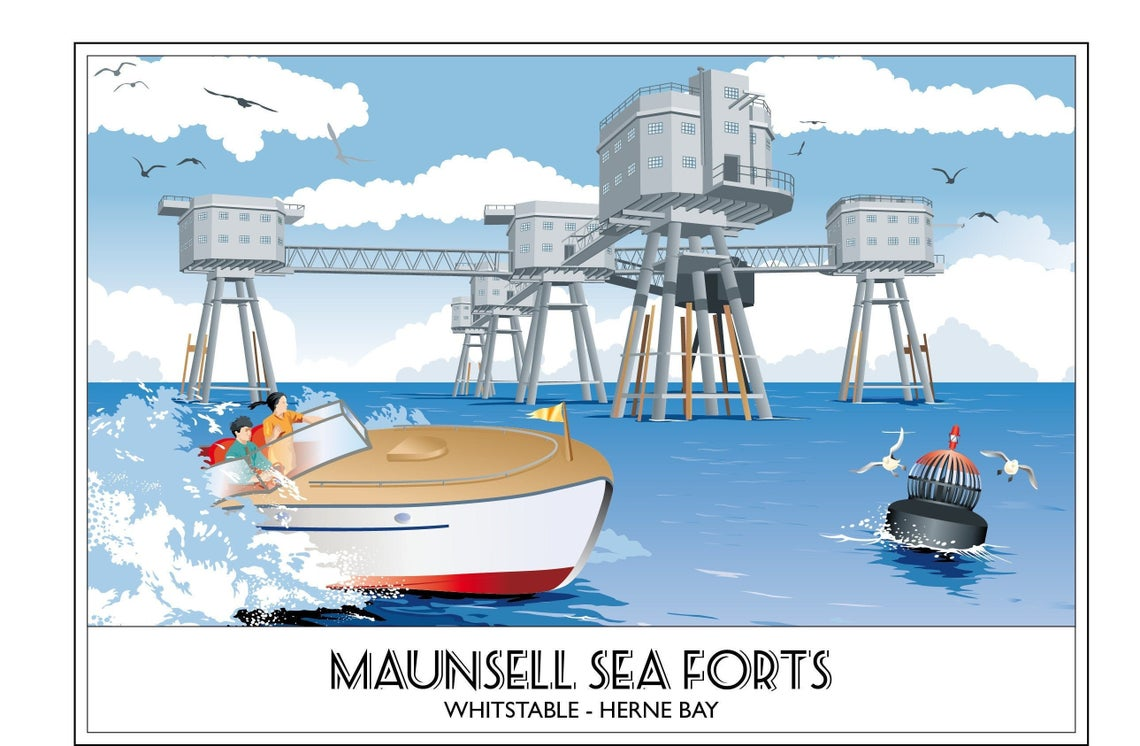 The Maunsell Sea Forts, Herne Bay, Whitstable, Kent