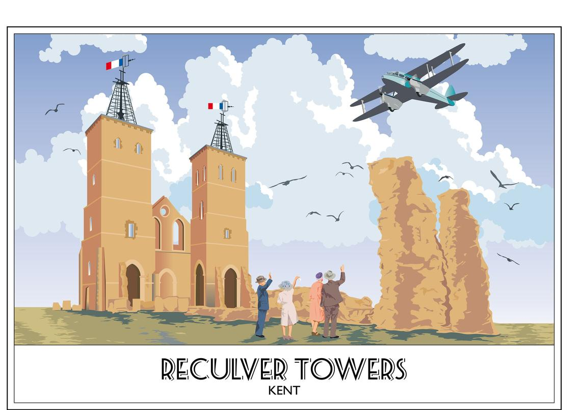 Reculver Towers 2, Herne Bay, Kent, Roman Fort
