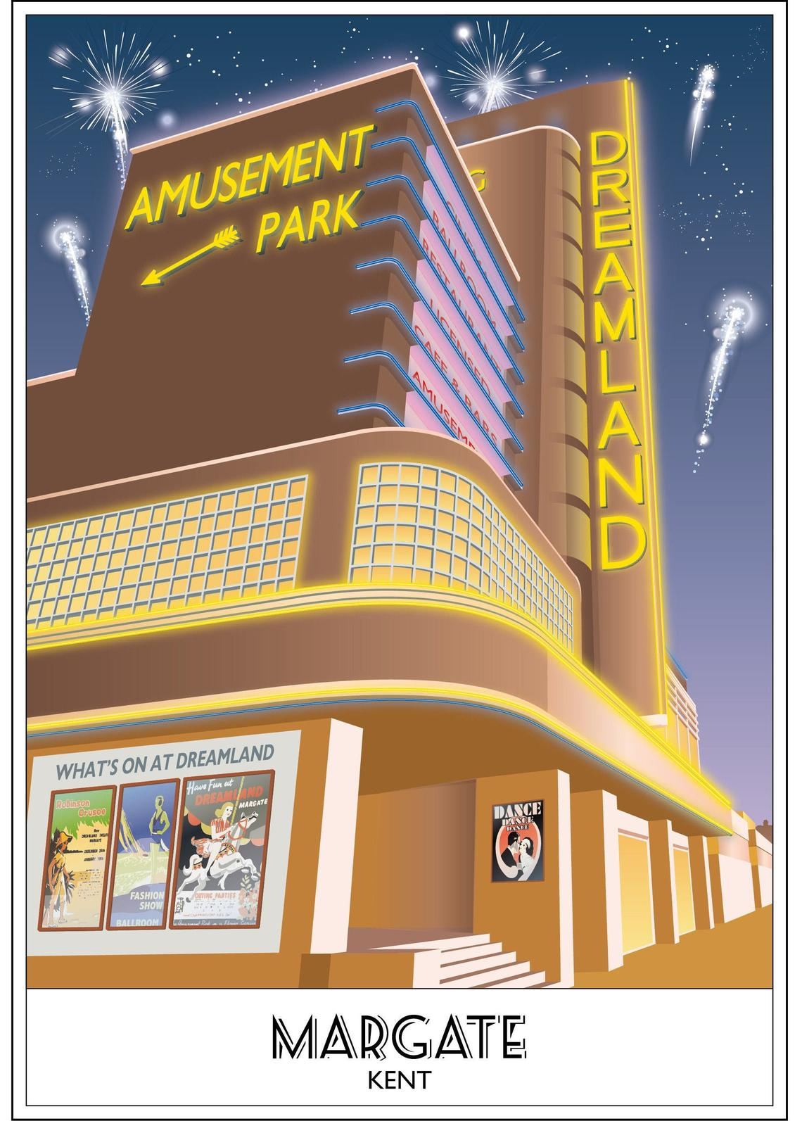 Dreamland, Margate, Fireworks, Cinema, Amusements, Kent