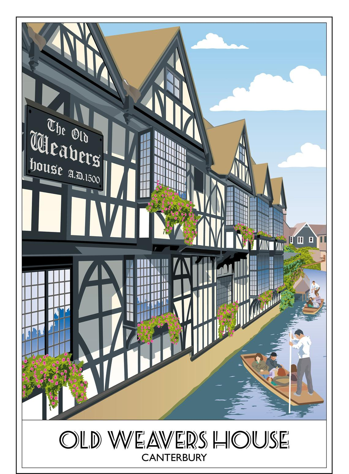 The Old Weavers House, Canterbury, River Stour
