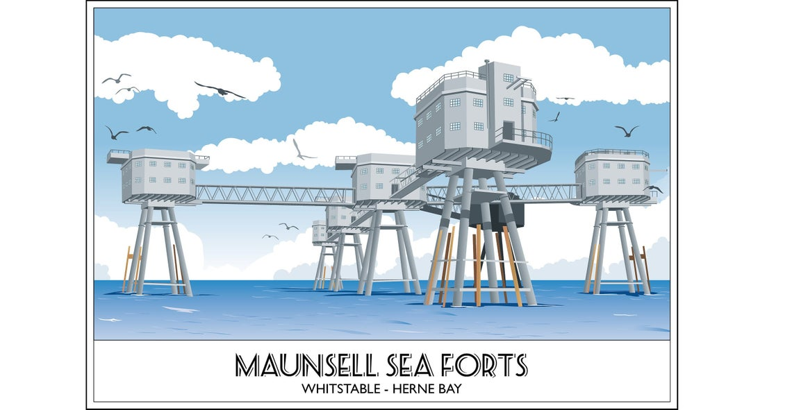 The Maunsell Sea Forts 2, Herne Bay, Whitstable, Kent