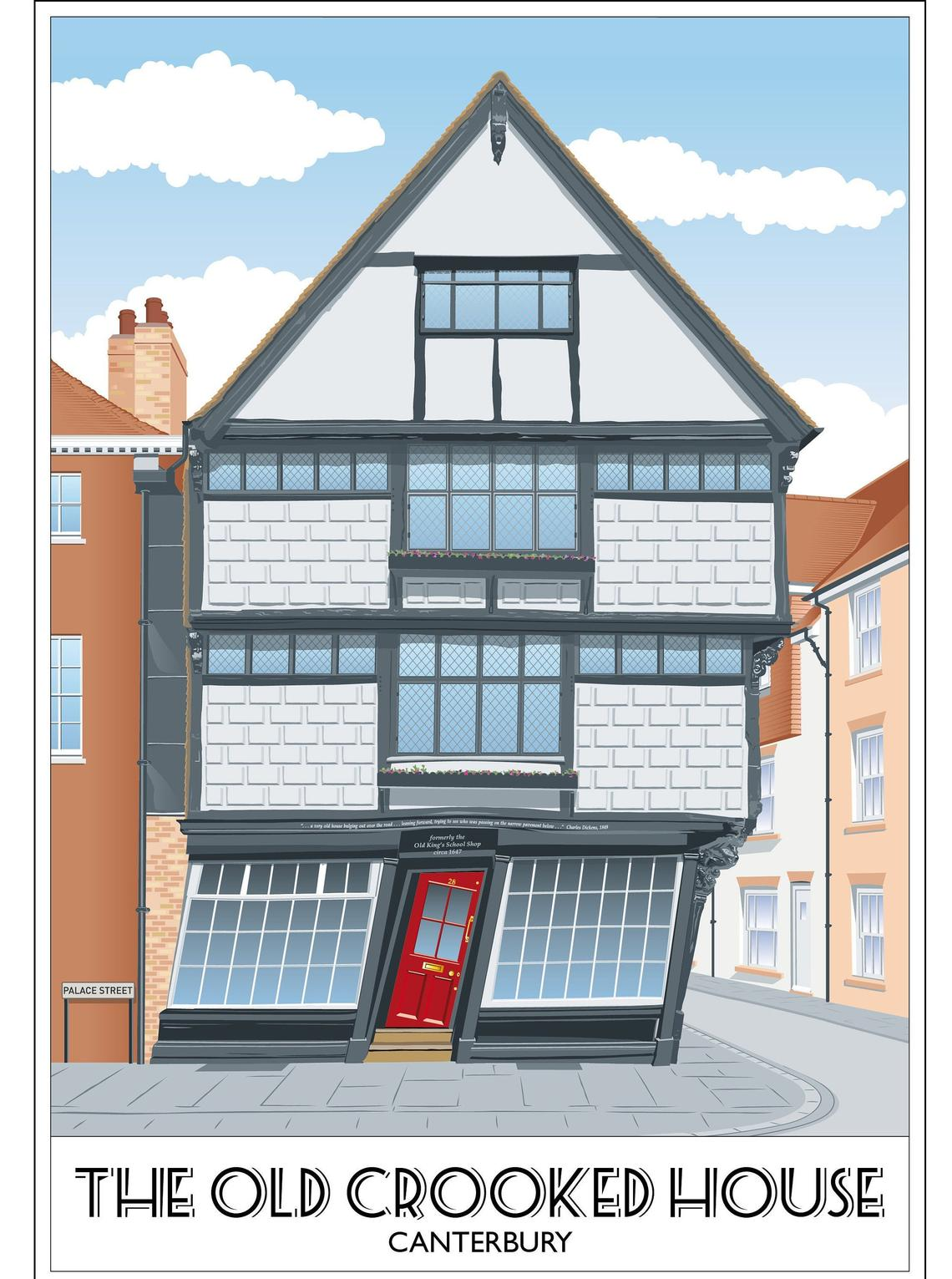 The Old Crooked House, Kings School Shop, Sir John Boys, Kent