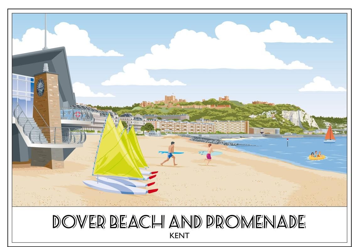 Dover Beach and Promenade, Kent