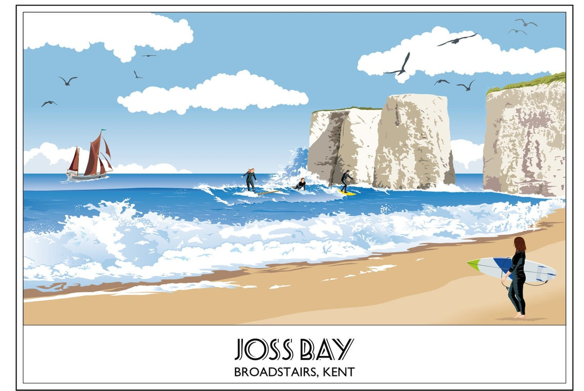 Joss Bay 2, Broadstairs, Beach, Kent, Surfing, Surfer's Paradise