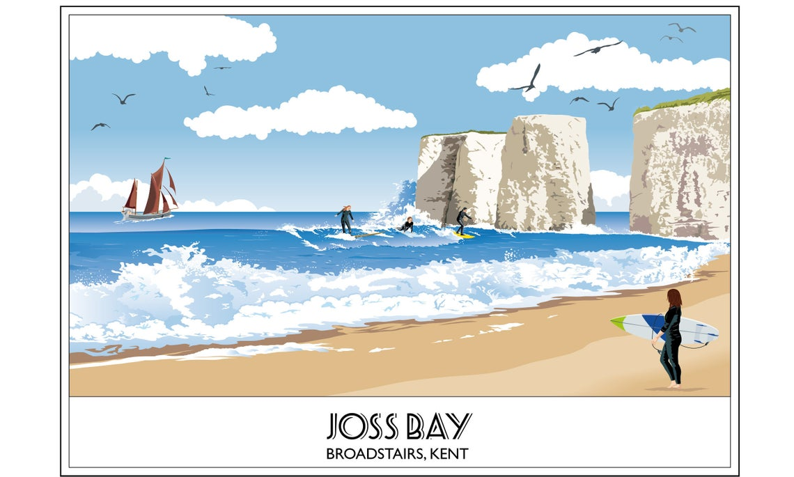 Joss Bay, Broadstairs, Surfing, Nr Margate, Kent